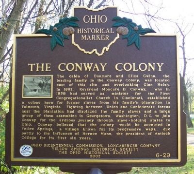 The Conway Colony Marker image. Click for full size.
