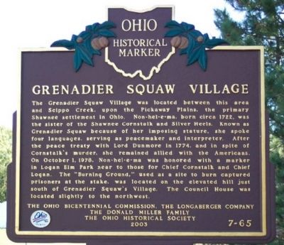 Grenadier Squaw Village Marker image. Click for full size.