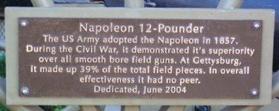 Napoleon 12-Pounder Marker image. Click for full size.