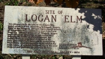 Site of Logan Elm Marker image. Click for full size.