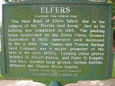 Elfers Marker reverse image. Click for full size.