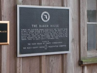 The Baker House Plaque image. Click for full size.