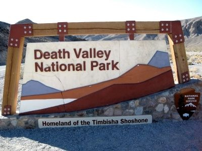 Death Valley National Park Sign image. Click for full size.