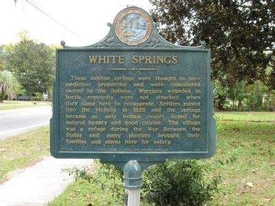 White Springs Marker image. Click for full size.