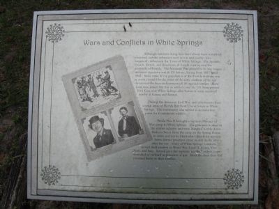 White Springs Marker interpretive display board image. Click for full size.
