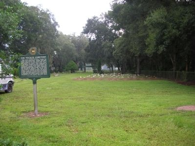 The Tucker Cemetery Marker, facing north image. Click for full size.