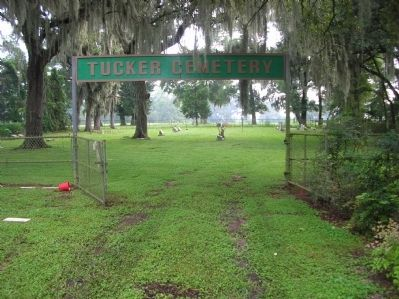 The gate to the original Tucker Cemetery image. Click for full size.