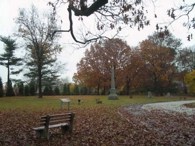 Markers on the Paoli Memorial Grounds image. Click for full size.