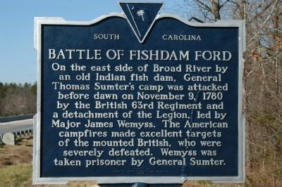 Battle of Fishdam Ford Marker image. Click for full size.