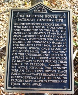 John Bateman House Site & Bateman Tannery Site Marker image. Click for full size.
