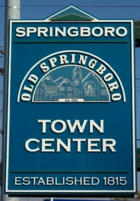 Old Springboro Town Center Sign image. Click for full size.
