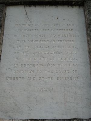 The Battle of Olustee Marker, side 2 image. Click for full size.