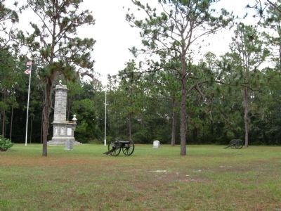 The Battle of Olustee Marker with cannons image. Click for full size.
