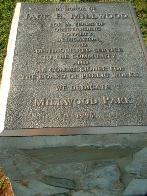Millwood Park Marker image. Click for full size.