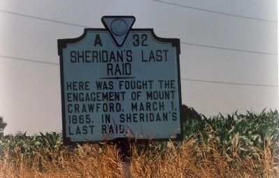 Sheridan's Last Raid Marker image. Click for full size.