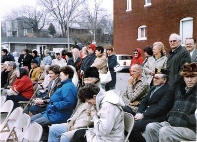 Dedication of Memorial - - Nov. 11, 1991 image. Click for full size.