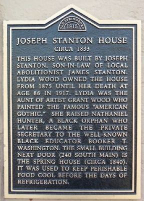 Joseph Stanton House Marker image. Click for full size.