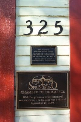 Chamber of Commerce and National Register Markers image. Click for full size.