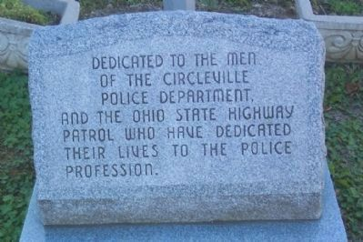 Circleville Police Memorial image. Click for full size.