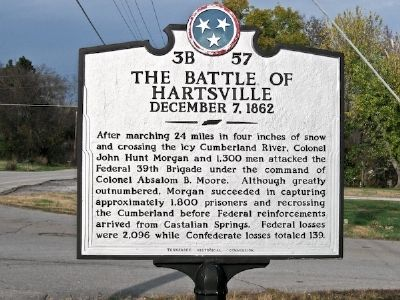 The Battle of Hartsville Marker image. Click for full size.