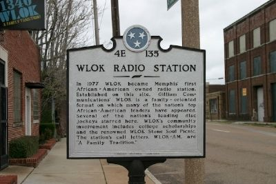 WLOK Radio Station Marker image. Click for full size.