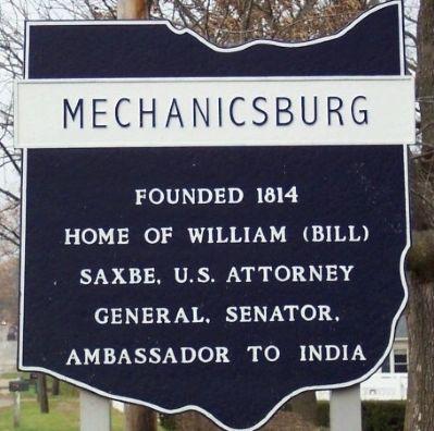 Mechanicsburg Corporate Limit Marker image. Click for full size.