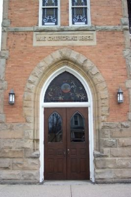 Mechanicsburg United Methodist Church Entrance image. Click for full size.