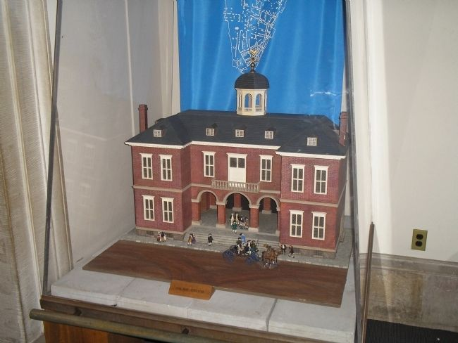 Model of Federal Hall image. Click for full size.