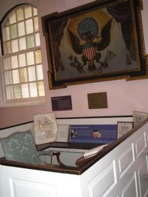 George Washington's Pew in St. Paul's Chapel image. Click for full size.