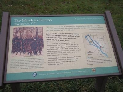 The March to Trenton Marker image. Click for full size.