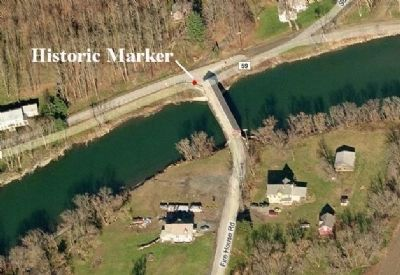 Buskirk's Red Covered Bridge Marker Location image. Click for full size.