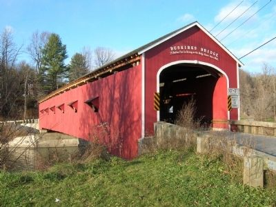 Buskirk's Red Covered Bridge, 3/4 View image. Click for full size.