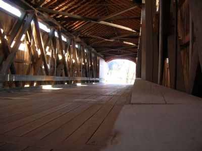 Buskirk Covered Bridge Interior image. Click for full size.