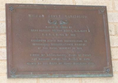 Norman Scott Natatorium Marker image. Click for full size.