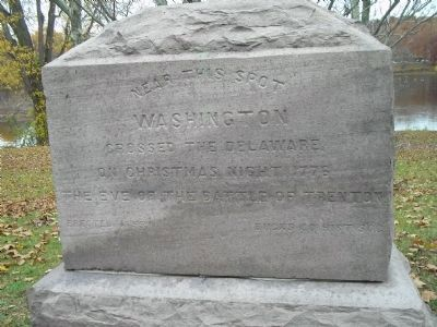 Washington Crossed the Delaware Marker image. Click for full size.