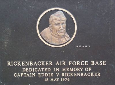 Rickenbacker Air Force Base Marker image. Click for full size.