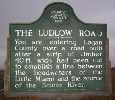 The Ludlow Road Marker (side A) image. Click for full size.