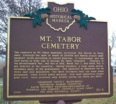 Mt. Tabor Cemetery Marker image. Click for full size.