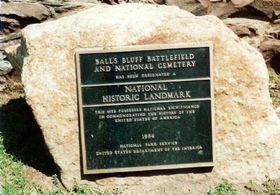 Ball's Bluff Battlefield and National Cemetery Marker image. Click for full size.