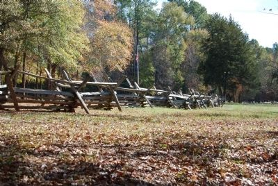 Rail Fencing Along the Musgrove Mill State Historic Site image. Click for full size.