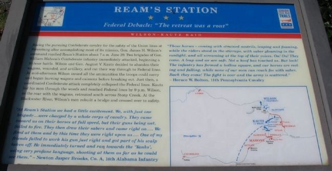 Ream's Station Marker image. Click for full size.