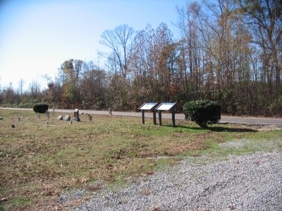 Ream's Station Markers at the Oak Grove Church image. Click for full size.