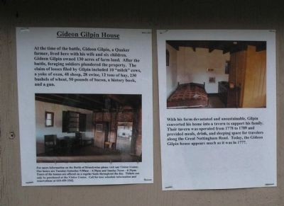 Gideon Gilpin House Marker image. Click for full size.