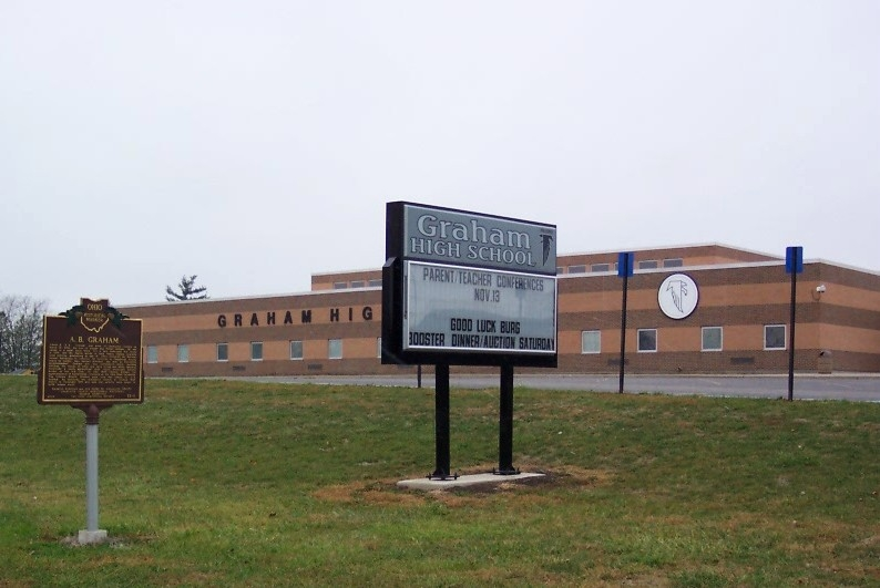 Graham High School and Marker