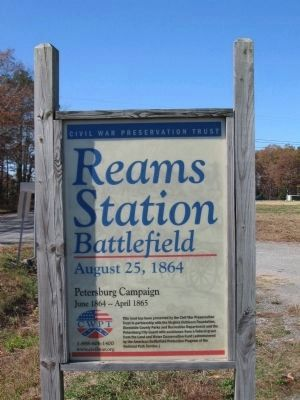 CWPT Reams Station Battlefield image. Click for full size.