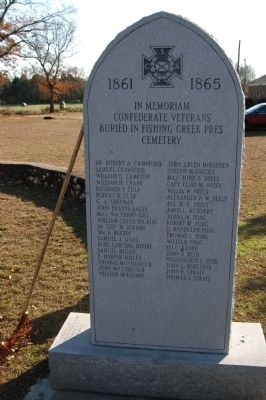 Fishing Creek Revolutionary / Confederate War Memorial Marker image. Click for full size.