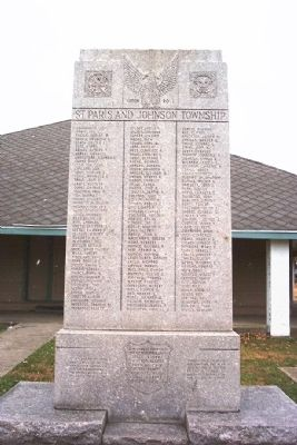 St. Paris and Johnson Township World War II Memorial image. Click for full size.