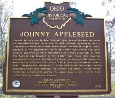 Johnny Appleseed Marker (side B) image. Click for full size.