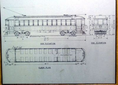 Dayton, Springfield, and Urbana Electric Railway Drawing image. Click for full size.