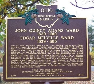 John Quincy Adams Ward & Edgar Melville Ward Marker (side B) image. Click for full size.